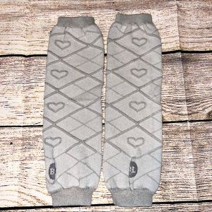 Grey with Hearts Baby Leg warmers